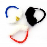 Sheepskin Bungee Ring - Rubber Ball
